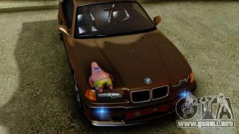 BMW M3 E36 SüvariGaragee para la visión correcta GTA San Andreas
