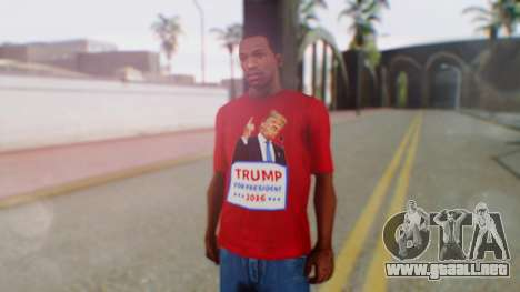 Trump for President T-Shirt para GTA San Andreas