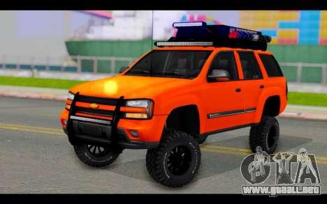 Chevrolet Traiblazer Off-Road para GTA San Andreas