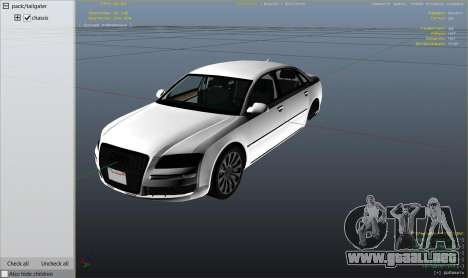 GTA 5 Audi A8 v1.2 vista lateral derecha