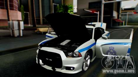 Dodge Charger SRT8 2015 Police Malaysia para GTA San Andreas vista hacia atrás