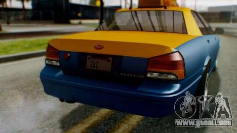 Vapid Taxi para vista lateral GTA San Andreas