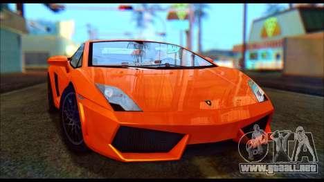 Lamborghini Gallardo LP560 PJ para GTA San Andreas left