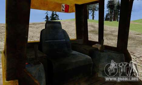New Dozer para GTA San Andreas vista posterior izquierda