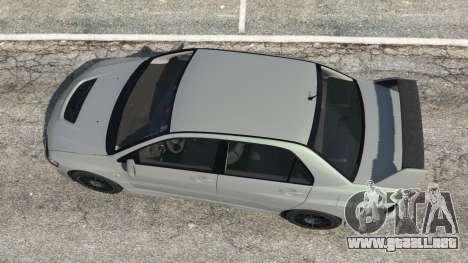 GTA 5 Mitsubishi Lancer Evolution VIII MR vista trasera