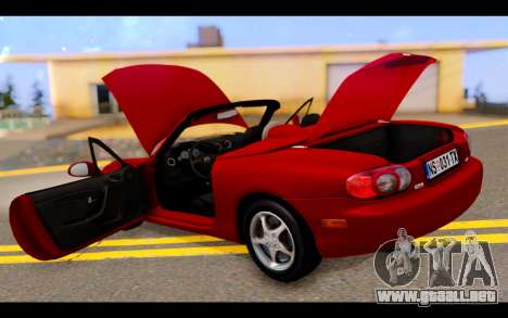Mazda MX-5 para vista inferior GTA San Andreas