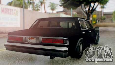 Unmarked Police Cutscene Car Stance para la visión correcta GTA San Andreas