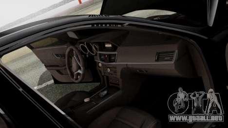 Mercedes-Benz E63 AMG PML Edition para vista inferior GTA San Andreas