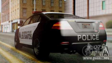 GTA 5 Police LS para GTA San Andreas left