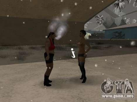 Las parejas boca CJ ya y transeúntes para GTA San Andreas tercera pantalla