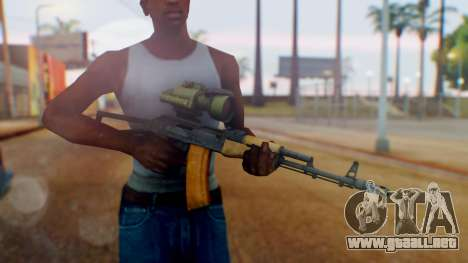 Arma OA AK-47 Night Scope para GTA San Andreas tercera pantalla