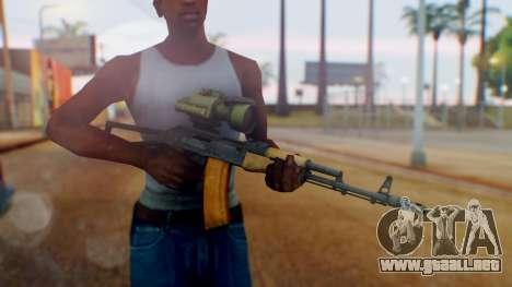 Arma OA AK-47 Night Scope para GTA San Andreas tercera pantalla