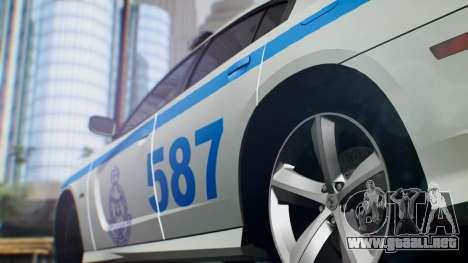 Dodge Charger SRT8 2015 Police Malaysia para GTA San Andreas vista posterior izquierda