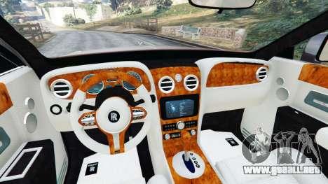 GTA 5 Rolls Royce Ghost 2014 v1.2 vista lateral trasera derecha