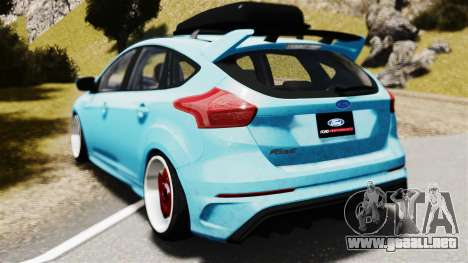 Ford Focus RS 2017 Camber para GTA 4 left