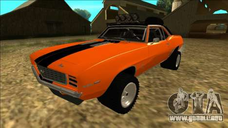 Chevrolet Camaro SS Rusty Rebel para la vista superior GTA San Andreas