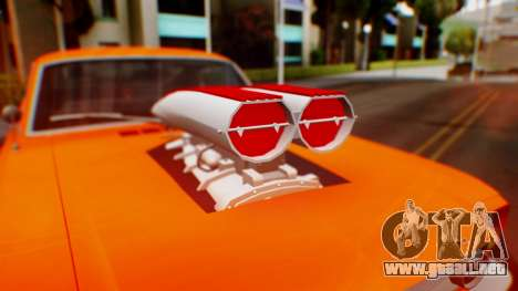 Ford Mustang 1966 Chrome Edition v2 Monster para vista lateral GTA San Andreas