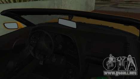 Toyota Supra TRD 1998 para GTA San Andreas vista hacia atrás
