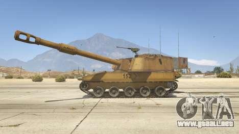 GTA 5 M109 (SAU) Paladin vista lateral izquierda