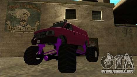GTA 5 Vapid Speedo Monster Truck para GTA San Andreas vista posterior izquierda