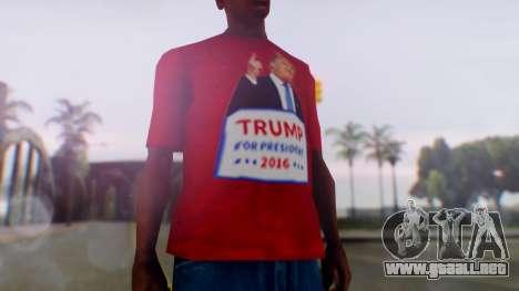 Trump for President T-Shirt para GTA San Andreas segunda pantalla