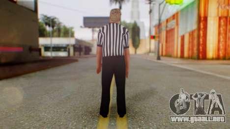 WWE Arbitro para GTA San Andreas tercera pantalla