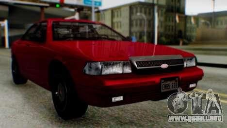 GTA 5 Vapid Stanier II para la visión correcta GTA San Andreas