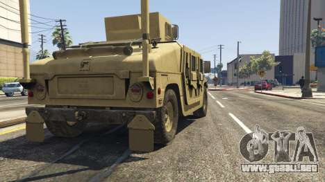 GTA 5 M1116 Humvee Up-Armored 1.1 vista trasera