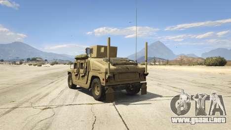 GTA 5 M1116 Humvee Up-Armored 1.1 vista lateral izquierda trasera