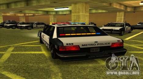 Police LS para GTA San Andreas vista posterior izquierda