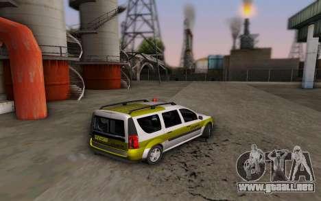Dacia Logan Emdad Khodro para GTA San Andreas left