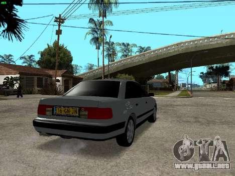 Audi 100 C4 1992 para GTA San Andreas vista posterior izquierda