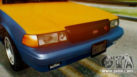 Vapid Taxi para GTA San Andreas vista hacia atrás