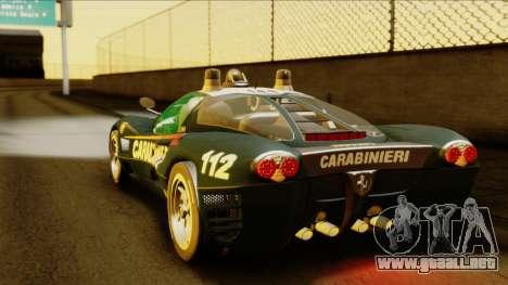 Ferrari P7 Carabinieri para GTA San Andreas left