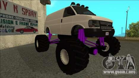 GTA 5 Vapid Speedo Monster Truck para GTA San Andreas left