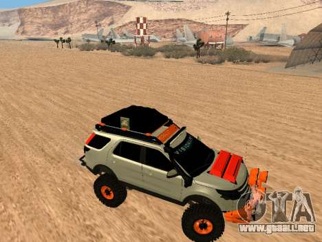 Ford Explorer 2013 Off Road para GTA San Andreas vista hacia atrás