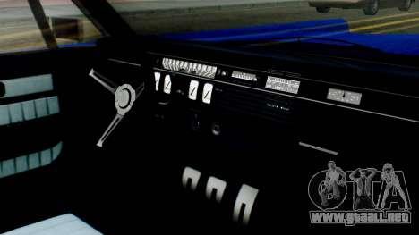 GTA 5 Vapid Chino Tunable IVF para GTA San Andreas vista hacia atrás