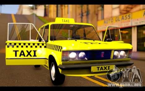 Zastava 125PZ Taxi para vista lateral GTA San Andreas