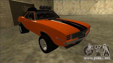 Chevrolet Camaro SS Rusty Rebel para GTA San Andreas left