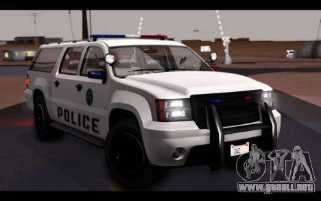 GTA 5 Declasse Sheriff Granger IVF para GTA San Andreas interior