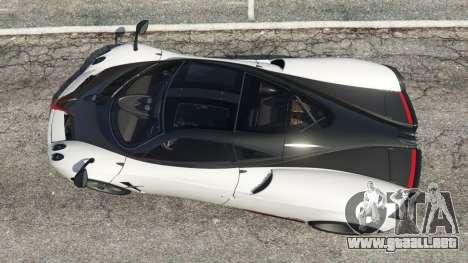 GTA 5 Pagani Huayra 2013 v1.1 [grey rims] vista trasera