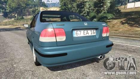 GTA 5 Honda Civic 1997 vista lateral izquierda trasera
