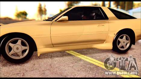 Toyota Supra MK3 Tunable para vista inferior GTA San Andreas