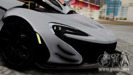 McLaren P1 GTR-VS 2013 para GTA San Andreas vista hacia atrás