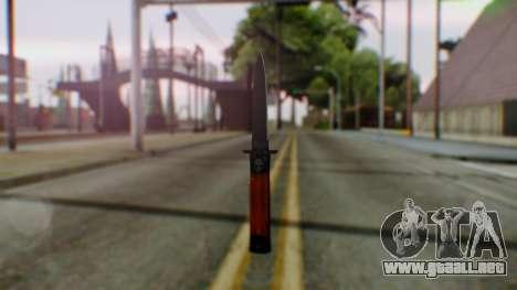 GTA 5 Bodyguard Switchblade para GTA San Andreas segunda pantalla