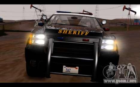 GTA 5 Declasse Sheriff Granger IVF para visión interna GTA San Andreas
