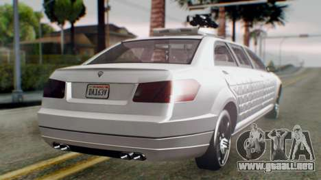 GTA 5 Benefactor Stretch E Turreted IVF para GTA San Andreas left