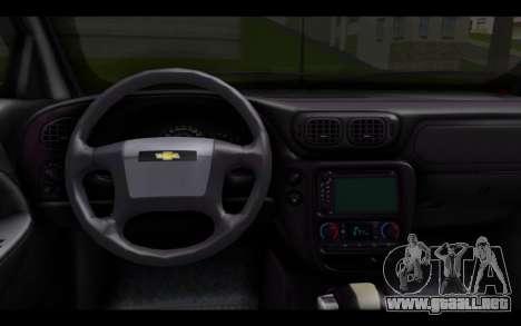 Chevrolet Traiblazer Off-Road para GTA San Andreas vista posterior izquierda