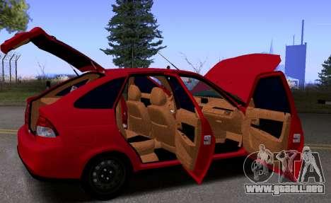 VAZ 2172 KBR para visión interna GTA San Andreas
