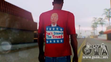 Trump for President T-Shirt para GTA San Andreas tercera pantalla